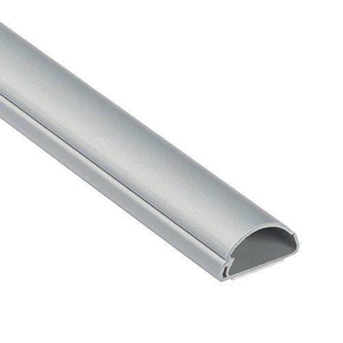 D-Line 1M3015A | Passacavi | Canalina Passacavi | Tubo Passacavi | Canalina Copricavi | Canalina Passacvi Pavimento | 30 x 15 mm - 1 m Lunghezza - Effetto Alluminio