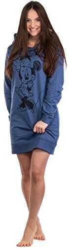 Brandsseller Sudadera con capucha para mujer, con motivos de Minnie Mouse y Peanuts Snoopy Minnie Navy S