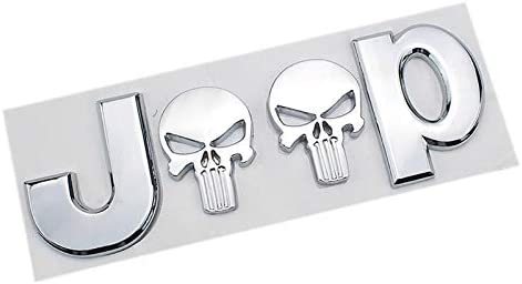 D28jd Logo Emblem Für Karosserie Abs Buchstaben Aufkleber Für J Eep Punisher Wrangler Grand Cherokee Kompass Silber Küche Haushalt