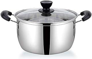 Olla de acero inoxidable de 1,5 l de doble fondo para sopa no magnética de cocina multiusos antiadherente para uso general