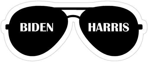 DKISEE (3 piezas/pack Biden & Harris 2020 Aviator Gafas de sol troqueladas pegatinas para laptop, ventana, coche, parachoques, casco, botella de agua de 4 pulgadas