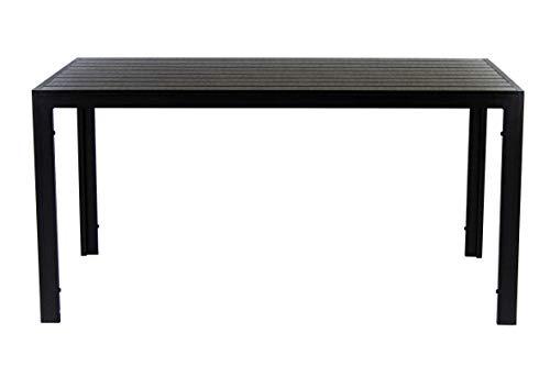 AVANTI TRENDSTORE - Limana - Tavolo da Giardino con Telaio in Metallo e Piano Tavolo in Polywood. Disponibile in 2 Misure Diverse (Lap 150x74x90 cm)