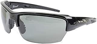 Wiley X WX SAINT Smoke Grey - Clear Lenses/Matte Black Frames (CHSAI07)