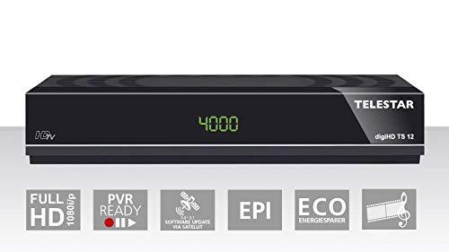 Telestar digiHD TS 12 HDTV-Satelliten Receiver (DVB-S, DVB-S2, PVR Ready, HDMI, Scart, USB) schwarz