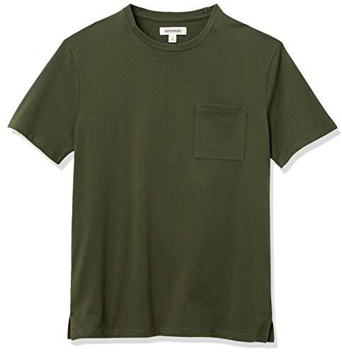 Amazon Brand - Goodthreads Men's Heavyweight Oversized Short-Sleeve Crewneck T-Shirt, Olive, X-Small