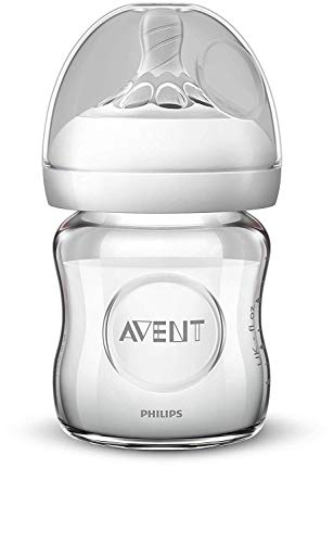 Philips Avent SCF051/17 - Biberón natural de cristal, 120 ml
