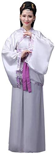OKZH Hanfu Chino Mujer Antiguo Chino Hanfu Weijin Hanfu Traje De Actuacin Retro Disfraz Juego Cosplay Trompeta De Rayas Prpuras