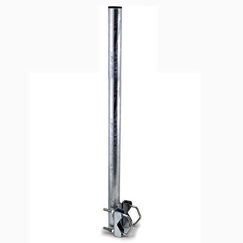 Satix SMV08001 - Extensión de mástil de 80 cm (soporte balcón barandilla) color plata