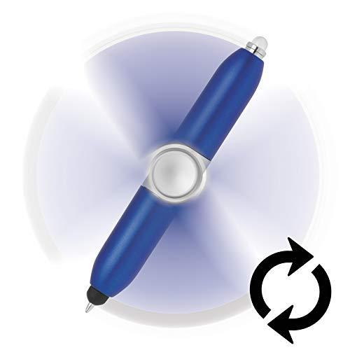 4 in 1 Spinning Pen (Blue)