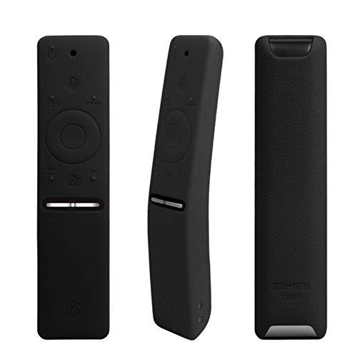 Luoshan 3PCS Funda Protectora de Silicona for Samsung Smart TV Control Remoto de versión de Voz UA55KU6300J / 6880J UA49KS7300 (Negro) (Color : Black)