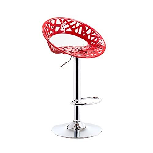 HLY Sedia con schienale , Sgabello da bar Moderno e minimalista Seggiolone con alzata Sgabello da bar per la casa Tavolo e sedie con schienale Sedia da bar Durevole,Rosso,B (41 cm)