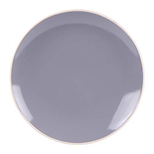 - assiette à dessert alpha 21 cm gris (lot de 6)