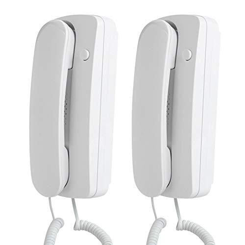Aukson Portero automático con intercomunicador bidireccional, Portero automático Estilo teléfono con Cable a doscientas distancias de conversación Utilizado en oficinas, almacenes