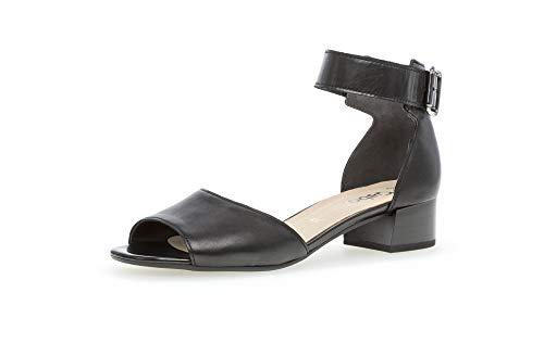 Gabor Damen Sandalen, Frauen Sandaletten,Best Fitting, sommerschuh Riemen elegant feminin Leichter Absatz Damen Frauen Lady,schwarz,43 EU / 9 UK