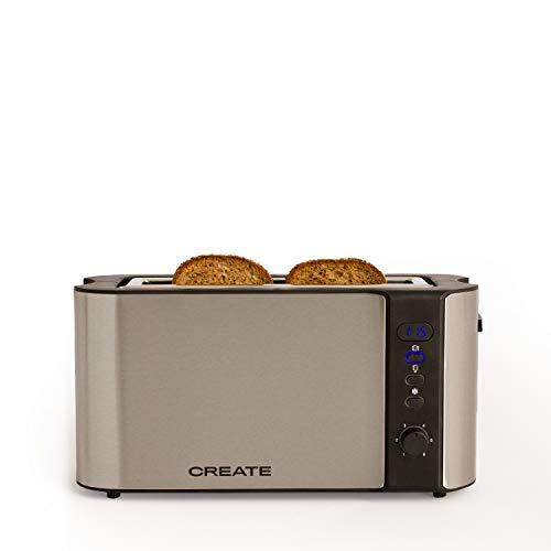IKOHS Create Toast Advance Pro - Tostadora eléctrica con Pantalla Digital (Plata)