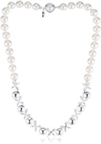 Majorica Novias - Collar de Plata de Ley con Perla
