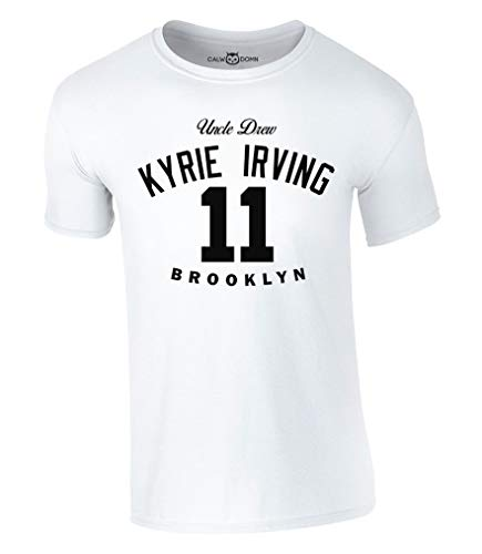 Kyrie Irving 11 T-Shirt Uncle Drew Basketball Brooklyn Jersey Trikot Nets (S, Weiß)