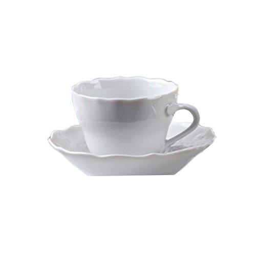 Rosenthal Hutschenreuther Maria Theresia Kaffeetasse 2-tlg. Weiss