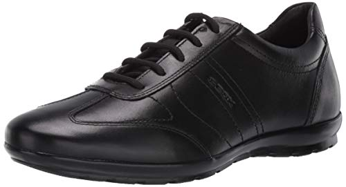 Geox Herren UOMO SYMBOL B Oxfords, Black, 46 EU