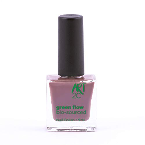 Art 2C - Esmalte de uñas puro con fórmula 85% ecológica y vegana, 24 colores, 9ml, color: Ash (17)