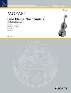 EINE KLEINE NACHTMUSIK G-DUR KV 525 - arrangiert für Violine - Klavier [Noten / Sheetmusic] Komponist: MOZART WOLFGANG AMADEUS