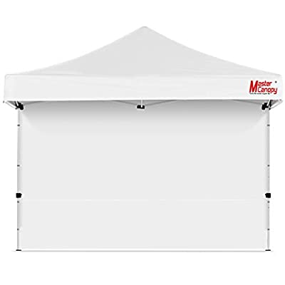 MASTERCANOPY Instant Canopy Tent Sidewall for 12x12 Pop Up Canopy, 1 Pack (12'x12', White)