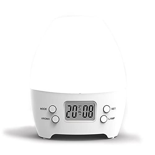 LWZ Despertador para niños Aromaterapia Colorida luz Nocturna Moda Personalidad Dormitorio Despertador de Escritorio