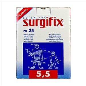 Surgifix Elastisches Schlauchnetz, 25 m Größe: 5,5 (ideal für Kopf, Knie, Bein, Oberschenkel)