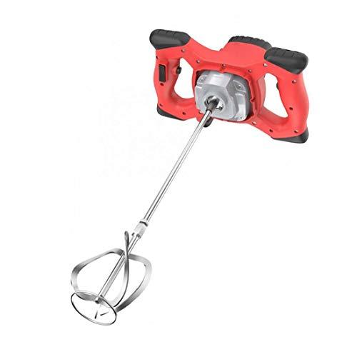 Aardich Cemento Hormigón Yeso eléctrica portátil Taladro Herramienta de agitación del Mezclador eléctrico 2100W Mortero Mezclador Rojo