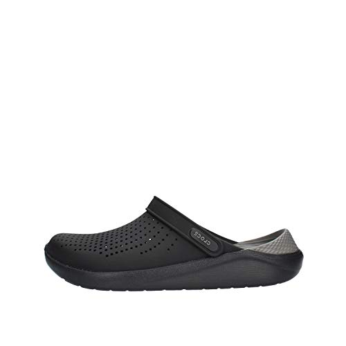 Crocs Men's and Women's LiteRide Clog, black/slate grey, 7 Women / 5 Men
