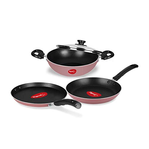 Pigeon by Stovekraft Basics Aluminium Non-stick Cookware Set, Set...