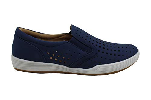 Comfortiva Womens Lyra Closed Toe Boat Shoes, Denim, Size 8.0