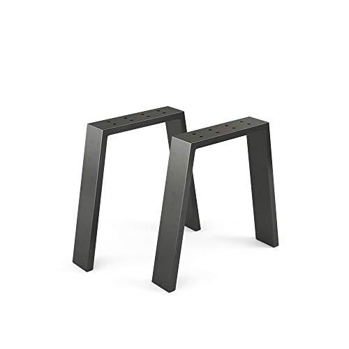 Vicco Loft Tischkufen Tischbeine DIY Tischgestell Couchtisch Esstisch Möbelfüße (U-Form - 42 cm)