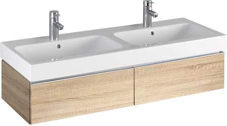 Keramag iCon Waschtischunterschrank 1190 x 240 x 477 mm, für Doppelwaschtisch Korpus/Front: Holzstruktur Eiche Natur