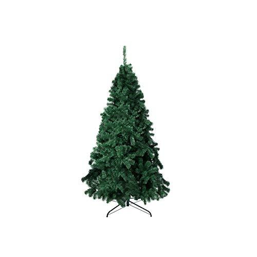 TopVita Árbol de Navidad de 1,8 m, 1000 puntas con soporte de metal plegable (verde)