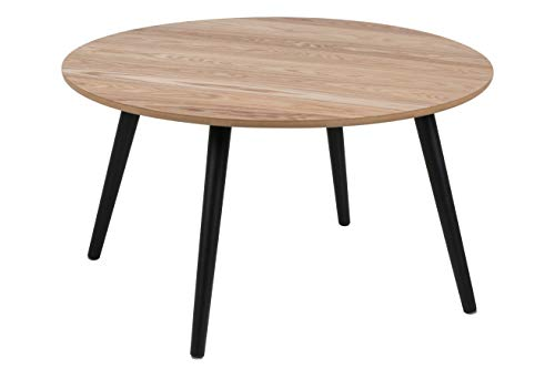 AC Design Furniture Couchtisch Stanley, B: 80 x T:80 x H: 45 cm, Rubberwood, Braun