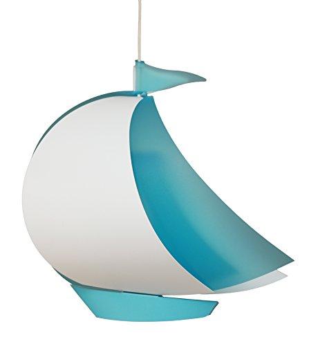 M R & Coudert-Lámpara de techo-Lámpara de techo para habitación infantil, diseño de barco, color azul