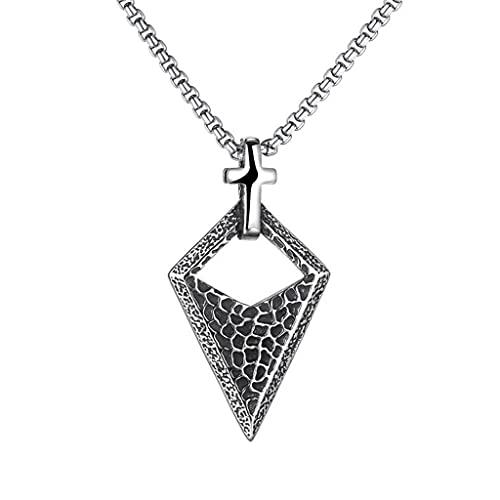 NDYD Nórdico Vikingo Fino Hecho A Mano Retro Cruz Triángulo 316L Acero Inoxidable Hombres Y Mujeres Accesorios De Joyería Collar