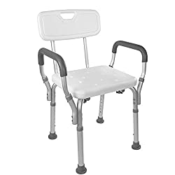 The Vaunn Medical Tool-Free Assembly Spa Bathtub Shower Lift Chair is our top choice among the best shower chairs for seniors
