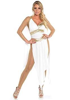 Leg Avenue Women s Costume White/Gold Small