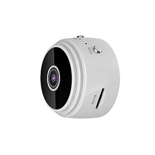 Mini-Kamera, versteckte Spionage, WiFi 1080P HD Kamera mit IR-Nachtsicht, Detektor, tragbarer Video-Rekorder, kleine Sicherheitskameras für (weiß, ohne Speicherkarte)