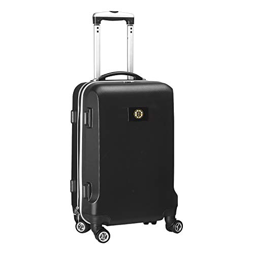 Denco NHL Boston Bruins Carry-On Hardcase Luggage Spinner, Black
