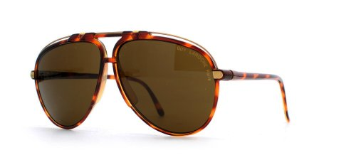 Guy Laroche 5129 29 Brown Aviator Certified Vintage Gafas de sol para hombre y mujer