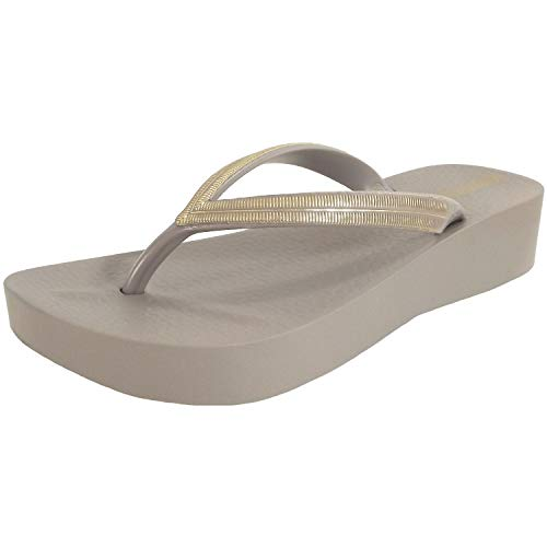 Ipanema Mesh V Chanclas Mujeres Gris/Oro - 39 - Chanclas Shoes