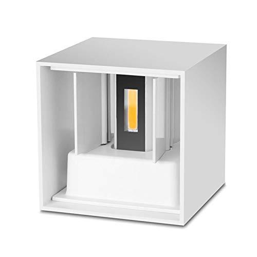 Lámpara de pared Luz de pared LED Al aire libre impermeable IP65 Porche Jardín Lámpara de pared Sconce Balcon Terraza Decoración Lámpara de iluminación Apliques de Pared (Color : White Body)