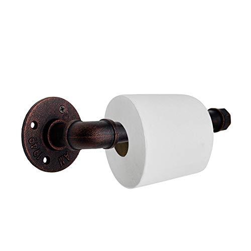 """KSS Industrie Retro Toilettenpapierhalter 3/4"""" Vintage WC Papierhalter Eisen Rohr Handtuchhalter (Bronze)"""