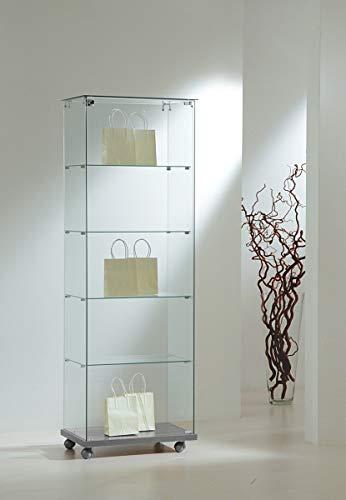 MHN - Vitrina de cristal de seguridad para exposiciones, con cierre, 60 x 40 cm