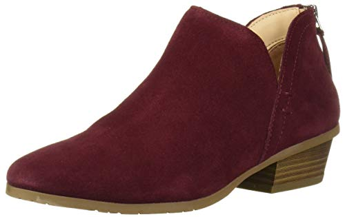 Kenneth Cole REACTION Women's Side Way Ankle Boot, Burgandy, 8 Medium US