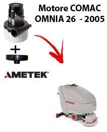Omnia 26-2005 versie motor stofzuiger Ametek zelfzuigende comac