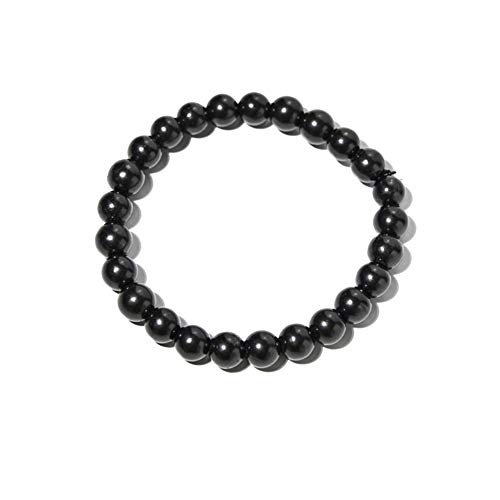 Element Harmonia 8mm Shungite Bracelets for Women and Shungite Bracelet for Men with Radiation Protection Semi-Stretchy Bracelets Jewelry Shield - Stones and Gems for Radiation and Anxiety